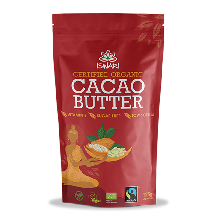 Какао-масло Ишвари Cacao Butter 125г (натуральное питание ISWARI)